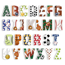 цены 3D PVC Uppercase English Alphabet Letter Kindergarten Playground Children's Room Baby Nursery Decorative Letters Room Decoration