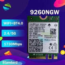 สำหรับIntel Dual Band AC 9260 9260NGW 9260AC 1.73Gbps NGFF Key Eการ์ดWifi 802.11acบลูทูธ5.0สำหรับWindows 10