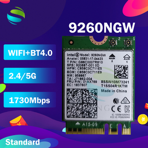 Image 1 - Wifi Card For Intel Dual Band AC 9260 9260NGW 9260AC 1.73Gbps  NGFF Key A E Wifi Card  802.11ac Bluetooth 5.0 for Windows 10