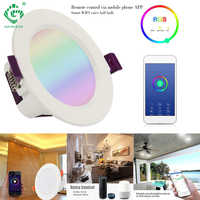 Smart Remote Control LED Ceiling Downlight Down Lights Recessed Intelligent Sensor With Amazon Alexa Control Color Adjustable