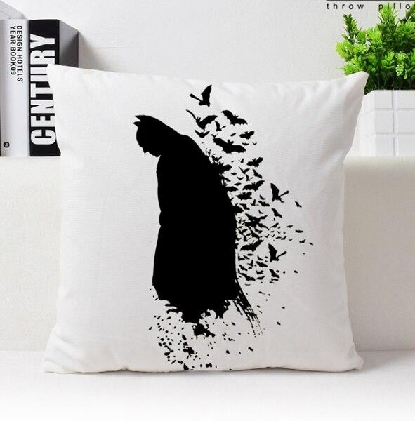 Watercolor Batman Cushion Cover Batman Pillow Case Short Plush Velvet Superhero Throw Pillow Cover|Pillow Case| |  - title=