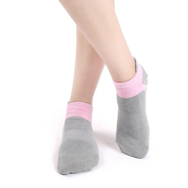 Women Yoga Anti-slip Socks Backless Silicone Anti-slip Socks Ladies Ballet Dance Gym Fitness Pilates Cotton Socks