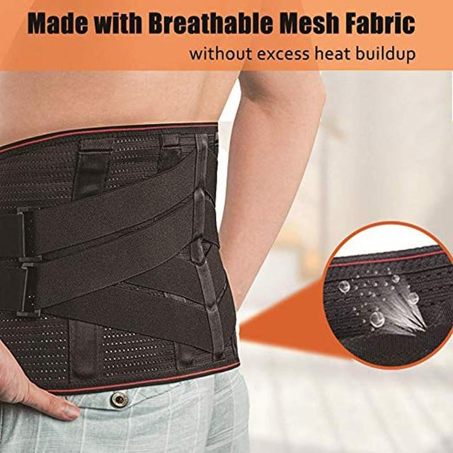 Lower Back Support For Men And Women Neoprene Waist Support Gym Waist Protector Fitness Lumbar Sweat Belt Sport Accessories 5