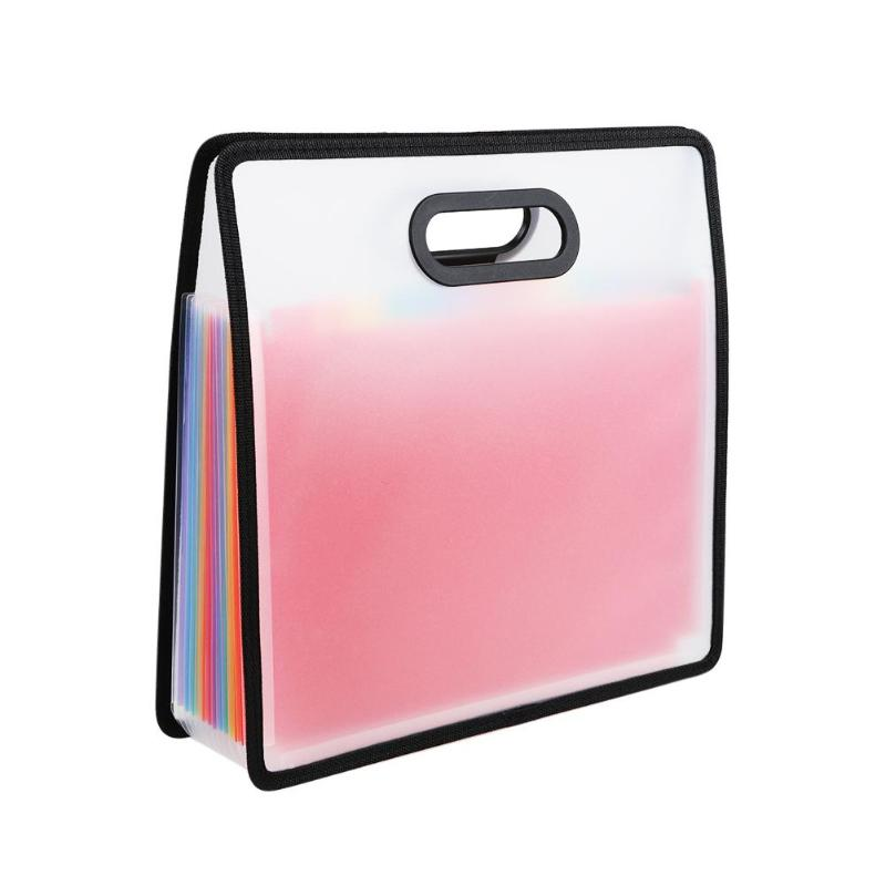 12-Layer Expanding Files Folder Multicolor Accordion Portable A4 File Manager Business Office Student Plastic Folder Organizer