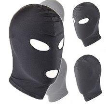 Сексуальная черная маска из искусственной кожи с латексным капюшоном 4 tyles дышащий головной убор фетиш бдсм для взрослых Вечерние
