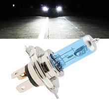 Автомобильный светильник H4 галогенная лампа 12V 100/90 Вт галогенная лампа супер в белом и темно-синем цвете ксенон яркий Стекло Нержавеющая сталь основание автомобильной лампы