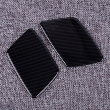 DWCX 2Pcs Car Styling Carbon Fiber Style Front Headlight Washer Spray Cover ABS Fit for Jeep Grand Cherokee 2017 2018 2019