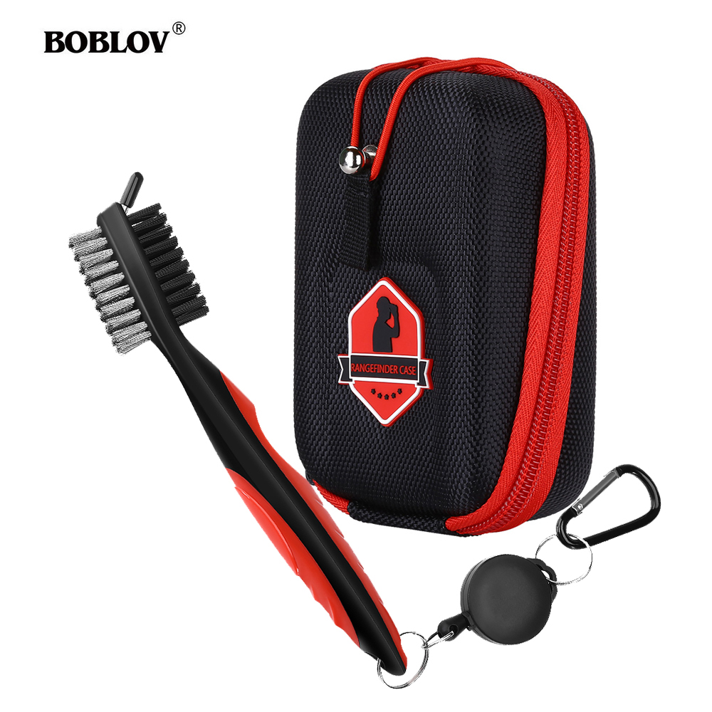 BOBLOV Golf Rangefinder Case EVA Hard Cover For Bushnell Tectectec Nikon Callway Rangefinders Bag Golf Club Brush