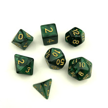 Top Quality Games Dice 7pcs D4-D20 Multi-Sided Games Dices with Double Color, Magic Dice Set As Toy Kit