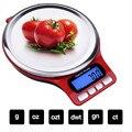 Кухонные весы с платформой из нержавеющей стали  ЖК-цифровые пищевые весы с функцией тары  ультра-тонкие мини весы 5 кг/1 г 3 кг/0 1 г