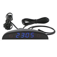 Светодиодные часы для автомобиля 24-часовой термометр для автомобиля внутренний измеритель температуры цифровой монитор напряжения батаре...
