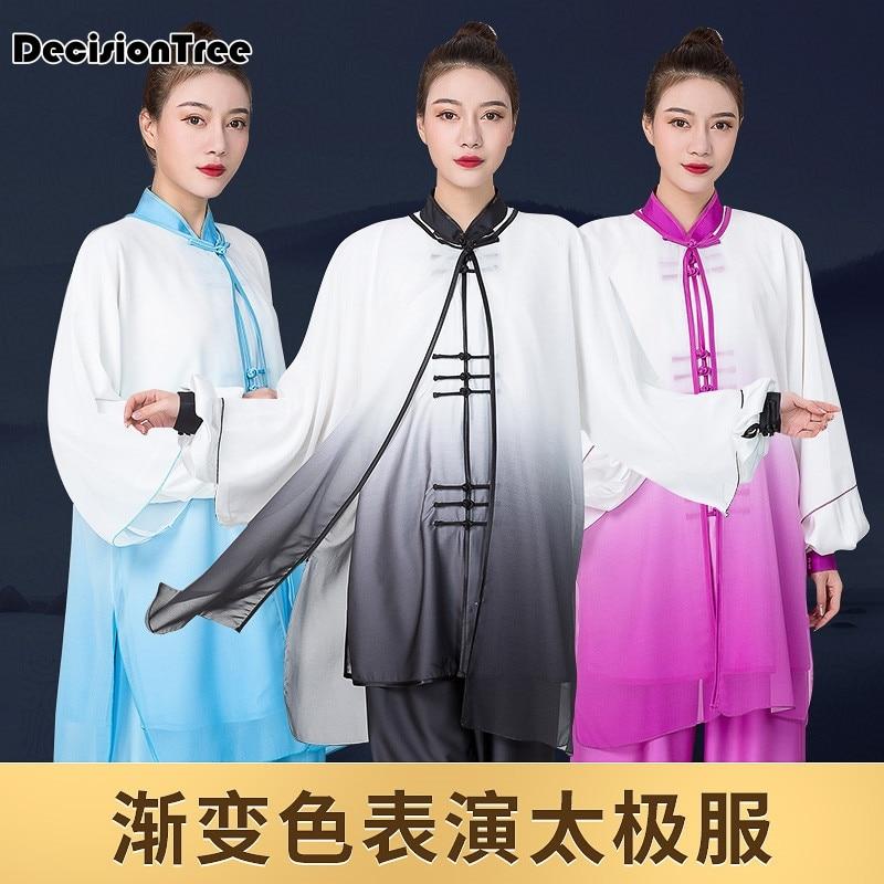 2019 Men Women Traditional Chinese Cloth Jiu Jitsu Wushu Kung Fu Uniform Tai Chi Suit Oriental Leisure Shawls Embroidery Dragon