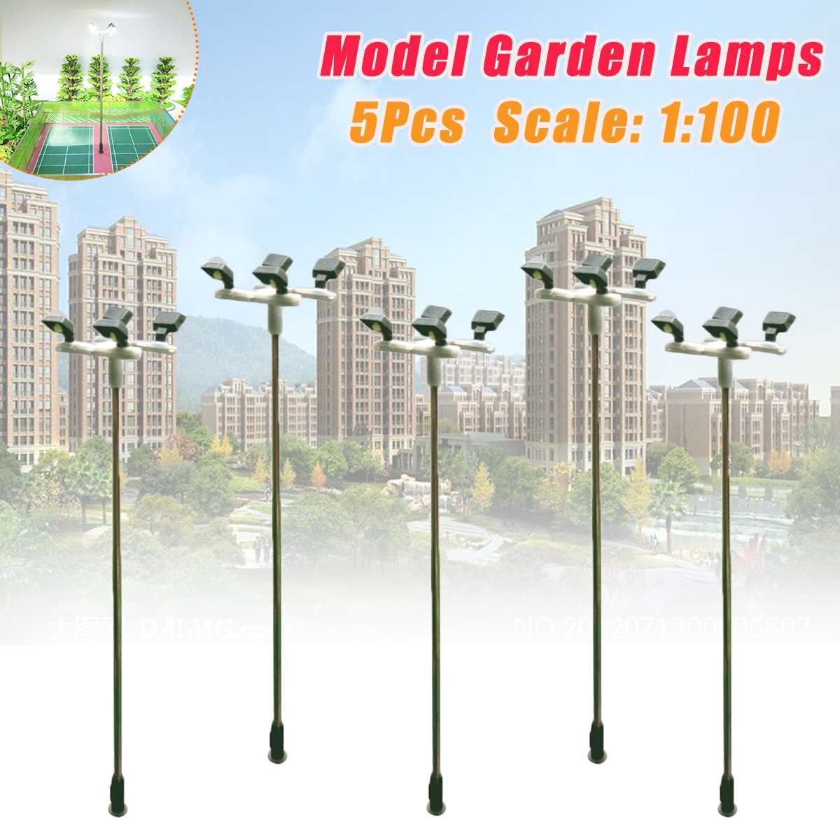 10pcs 3V HO Scale 1:100 1:87 Mini Model Railway LED Lamppost Lamp Garden Street Lights Landscape Court Outdoor Lamp Yard Light