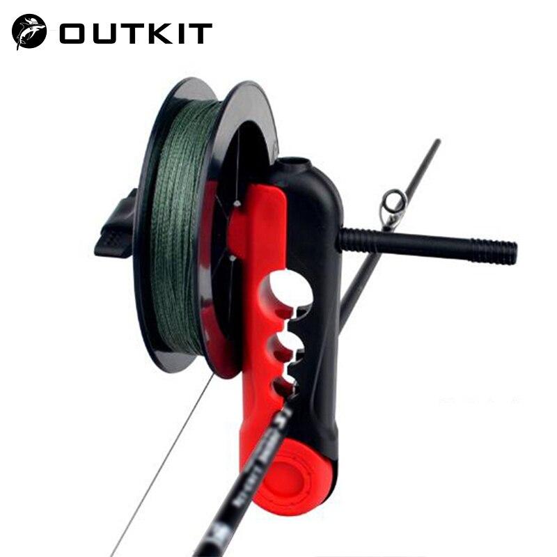OUTKIT Fishing Line Spooler Adjustable For Various Sizes Rod Bobbin Reel Board Winder Reel Spool Spooler Universal Fishing Tools