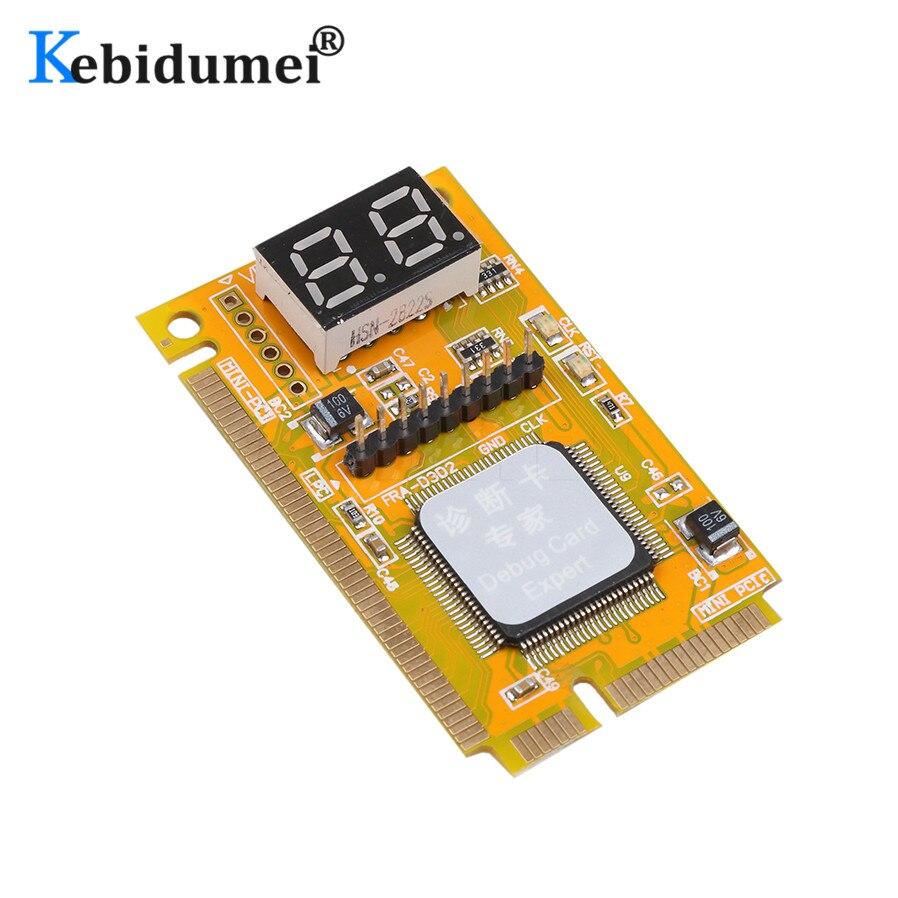 Kebidumei mini pci-e lpc analisador de pc tester post cartão de teste para computador portátil hexadecimal exibição de caracteres