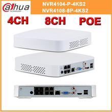 داهوا 4K 8MP PoE NVR 4CH NVR4104 P 4KS2 8CH NVR4108 8P 4KS2 مع 4/8ch PoE H.265 مسجل فيديو دعم ONVIF 2.4 SDK CGI