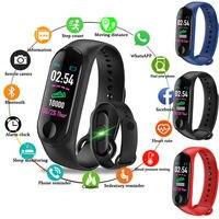 M3 4 Kleuren Bluetooth Waterdichte Smart Sport Horloge Vrouwen Band Armband Horloge Activiteit Hartslag Tracker Polsband