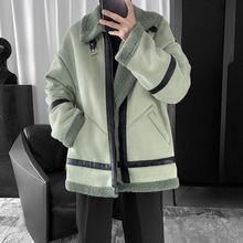Зимняя Толстая овечья Меховая куртка для мужчин; Теплые модные