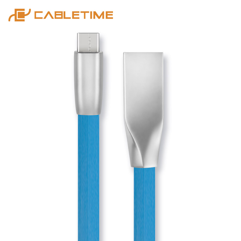 Cabletime USB Type C Cable Speed Charge Type C Sync Fast Charger Durable Cable USB-C For Xiaomi Huawei Samsung Data Cable C201