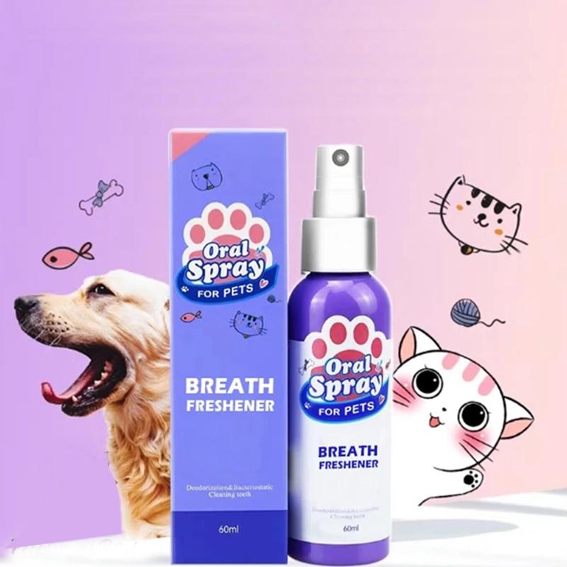 Pet Breath Freshener Spray Dog Teeth Cleaner Fresh Breath Mouthwash Non-toxic Healthy Dental Care Drop Shipping