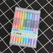 TOPSTHINK 10pcs/lot simple fashion highlighter creative erasable colorful pen school&office marker color