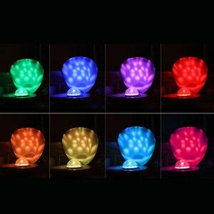 Image 3 - Coquimbo Shell LED Projektion Lampe Gebaut In Akku Schlafzimmer Home Dekoration Touch Schalter Kinder der Nacht Licht