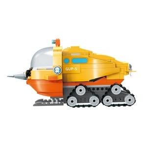 Image 3 - Genuíno octonauts narval barco bloco de construção brinquedos educativos diy montado navio pequenas partículas blocos tijolos crianças brinquedo