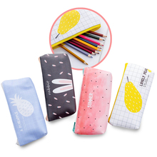 Summer Series PU Pencil Bag, Creative Cute Stationery Kawaii Case Office Supplies