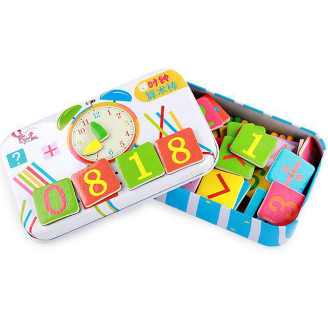 Wooden Magnetic Digital Counting Stick Educational Toys for Children Baby Mathematics Arithmetic Early Learning Education Toy
