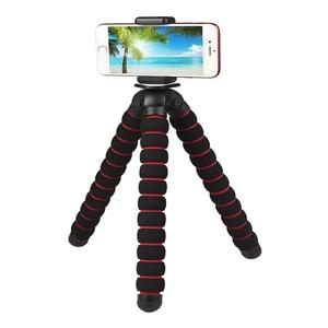 Image 4 - מצלמה אביזרי גמיש ספוג תמנון חצובה עבור Canon/ניקון/סוני ללכת פרו 7 6 5H9R Sj9 Sj8 פרו DJI אוסמו פעולה נייד טלפון