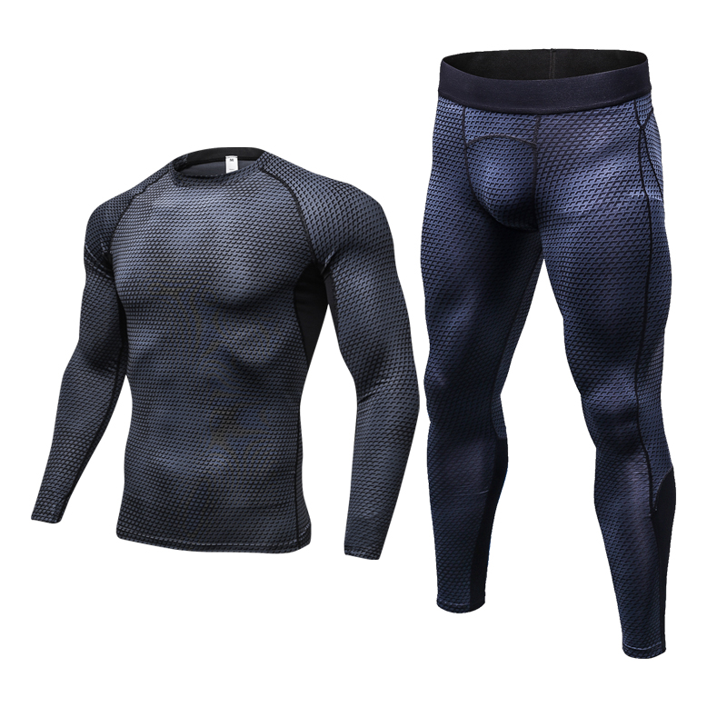 NEW Men's Sets Snake Print Tracksuit Running Sportswear Workout Sports Suit Gym Fitness Compression Tight Clothing