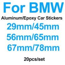 Peças para bmw F10 20 F30 F15 E91 E92 E93 F02 E63 E64 E65 29mm 45mm 56mm 65mm 67mm 78mm Logotipo Do Carro Tampa Da Roda Adesivo de Direção Decalque