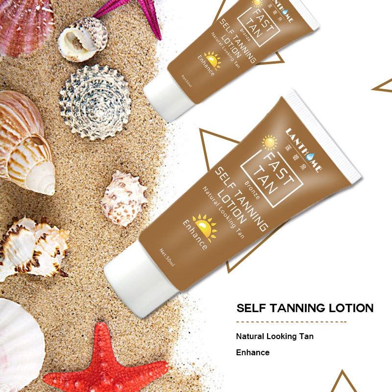 Lanthome Body Bronze Natural Bronzer Sunscreen Self Sun Tanning Enhance Lotion Tanning Cream Tanner Lotion Skin Darken TSLM2