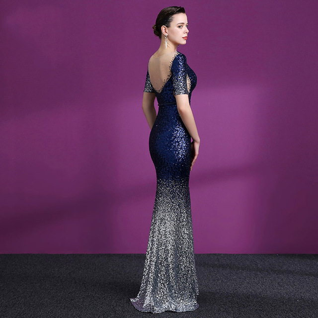 Women's Sequin Evening Mermaid Dress