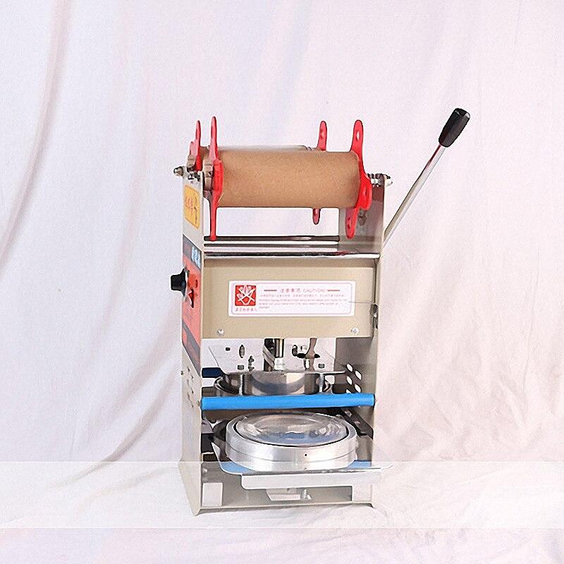Scelleur manuel en plastique Machine de cachetage plateaux scellant d'emballage pour la nourriture à emporter emballage serrure frais boîte à déjeuner Machine de cachetage