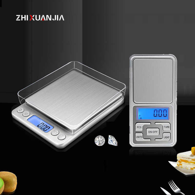 Digital scales electronic Weight Pocket Scales 100g 500g 0.01/0.1g Libra Medicine Jewelry Gram Weight Laboratory Balance Scales