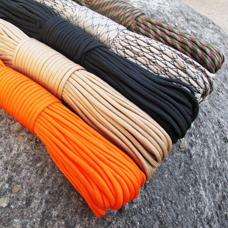 Paracord 550 веревка Тип III 7 подставка 100FT 50FT Паракорд шнур веревка набор для выживания Кемпинг веревка для альпинизма, кемпинга, Пешие прогулки В...