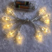 3M 20 LED Halloween Fairy String Lights Spider Style Pumpkin Ghost Lamp Home Garden Party Decor Warm And Purple Light