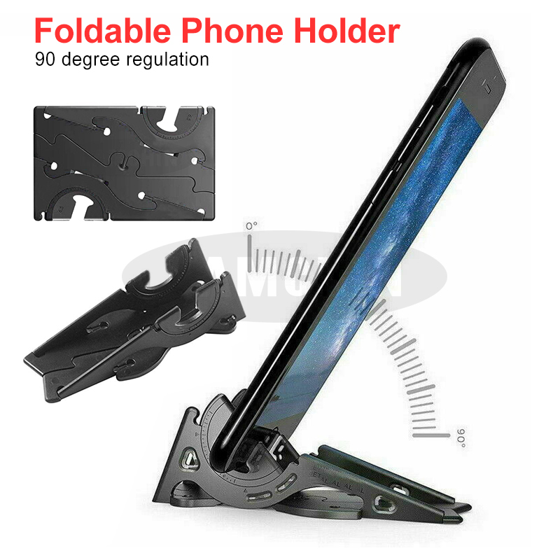 Foldable Phone Holder Card Type Rotation Holder Portable Pocket Adjustable Phone Holder Convenient To Carry For Smartphones