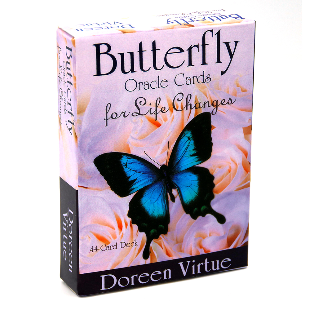 Butterfly Oracle Cards For Life Changes A 44-Card Deck And Guidebook Occult Divination Book Sets For Beginners Doreen Virtue