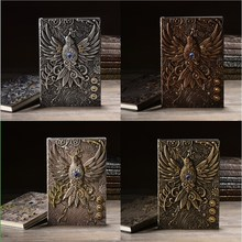 Popular Note Book 3D Vintage Embossed  Phoenix Notebook Diary Book Notepad Travel Notebook