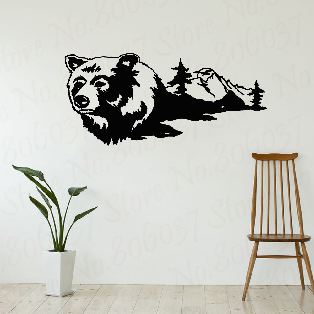 Bear Mountains Wall Decals Mural Home Decor Vinyl Stickers Decorate Your Bedroom Man Cave Nursery Decor Home Decals Wl1180 Wall Stickers Aliexpress