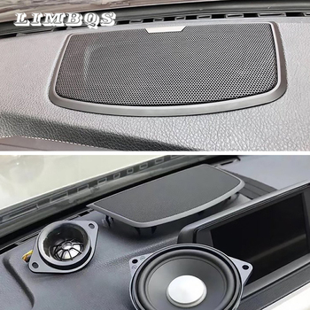 Dashboard audio cover for f30 f32 f34 bmw 3 4 GT series quality center tweeter speaker dashboard loudspeaker cover stickers trim car center console speaker cover for bmw f20 series high quality loudspeaker horn casing trim dashboard audio horn stickers trim