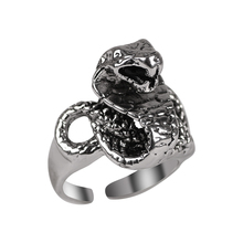 2020 New Mens Ring Animal Snake Irregular Shape Opening Adjustable Neutral Alloy Jewelry Gift Direct Sales