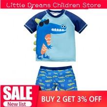 Dropship/Одежда для купания для малышей; одежда для купания для маленьких мальчиков; детская одежда для купания с изображением акулы и динозавра; комплект из 2 предметов; одежда для купания с героями мультфильмов для маленьких мальчиков; пляжная одежда