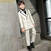 4pcs suit Set Boys wedding suit Kids Tuxedos Page boy Outfits Autumn Clothing sets Boys blazer suit Abito da ragazzo Jungenanzug