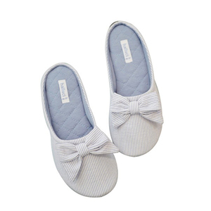 Image 5 - Cute BowTie Floor Slippers Shoes Women Non Slip Shoes Breathable Home House Indoor Slippers Bedroom Spring Autumn