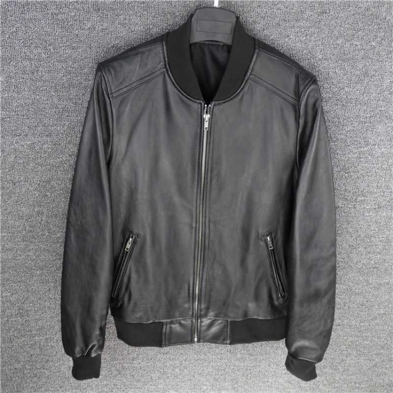 プラスサイズ 5XL 航空リアルレザーパイロットジャケットシープスキン黒本革ジャケット男性ボンバージャケットラムスキンラムファーイエローパイロットコート