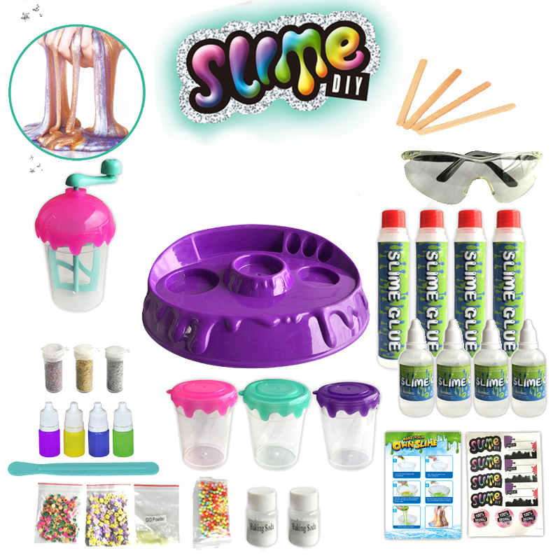New DIY Crystal Slime Charms Toys For Kids Children Educationa Clay Slime Make Kit Pigment Smell Filler Putty Antistress Toys