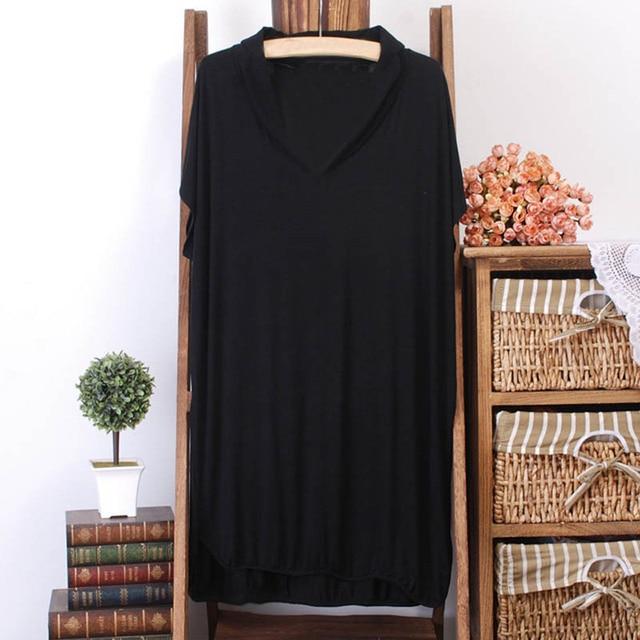 150Kg Plus size women's summer loose batwing short sleeve long T-shirt bust 156cm 5XL 6XL 7XL 8XL 9XL 10XL V-neck modal top 4